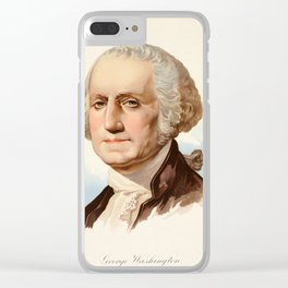 Our Country 1891 - George Washington Clear iPhone Case