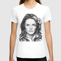 house md T-shirts featuring Dr. Cameron-House MD-Jennifer Morrison-Portrait by Olechka