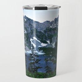 Rock face Snow Lake Travel Mug
