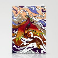 phoenix Stationery Cards featuring Phoenix by Peter Fulop