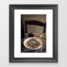 Ensalada Framed Art Print