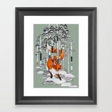 Fox Forest Framed Art Print