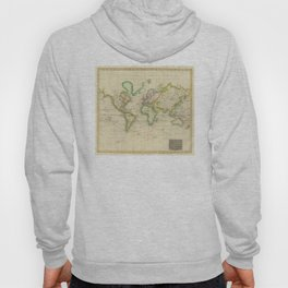 Vintage Map of The World (1814) Hoody