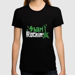 Sham Rockin St Patrick's Day Rock Music Guitar T-shirt