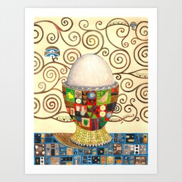 A boiled egg according to Gustav Klimt Art Print