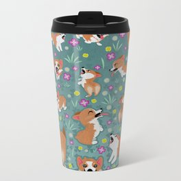 Corgis Metal Travel Mug