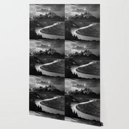 Ansel Adams - The Tetons and Snake River Wallpaper