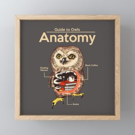 Anatomy of Owls Framed Mini Art Print