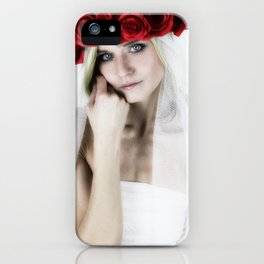 woman with a rose crown ll. iPhone Case