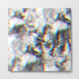 Diamonds 3-d Metal Print