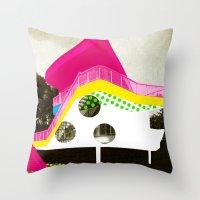 bauhaus Throw Pillows featuring BauHaus 3 by Marko Köppe