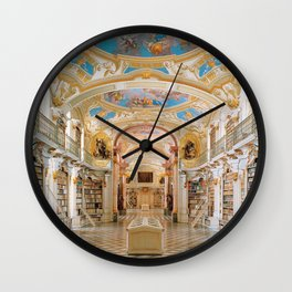 The Magnificent Admont Abbey Library of Admont, Austria Photograph Wall Clock