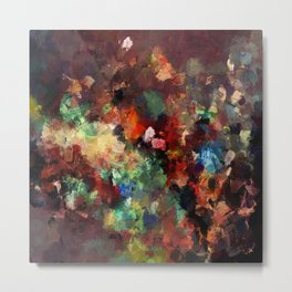 Colorful Contemporary Abstract Art Metal Print