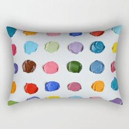 Rainbow Polka Daubs Rectangular Pillow