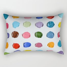 Rainbow Polka Daubs Rectangular Pillow