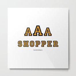 Triple-A Shopper – Gold Metal Print