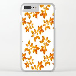 Orange Leaf Art Clear iPhone Case