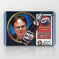 dwight schrute iPad Cases featuring Dwight Schrute  |  Beet Cola Advertisement by Silvio Ledbetter