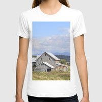 vermont T-shirts featuring Vermont Barn by Ashley Callan