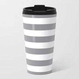 Horizontal Grey Stripes Travel Mug