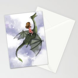 Dragon Flight at Night Stationery Cards