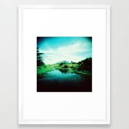Man-made Lake Framed Art Print