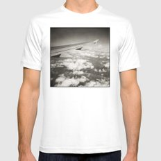 { flying high } White MEDIUM Mens Fitted Tee