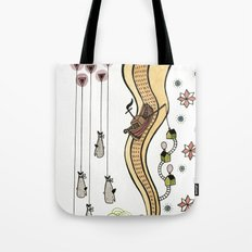 Hanging Whales Tote Bag