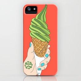 Matcha Ice Cream! iPhone Case