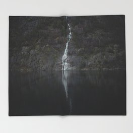 Waterfall (The Unknown) Throw Blanket