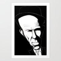 tom waits Art Prints featuring Tom Waits by Mr Shins