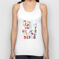 movies Tank Tops featuring 'M' is for 'Movies' by Andrew Treherne