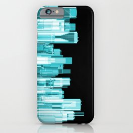 Hologram city panorama iPhone Case