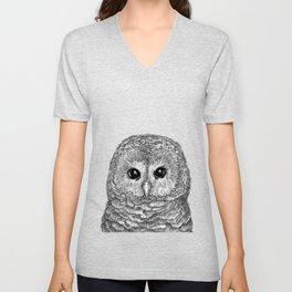 Tiny Owl Unisex V-Neck