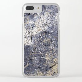 Orion - abstract painting by Rasko Clear iPhone Case