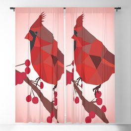 North Cardinal Bird Blackout Curtain
