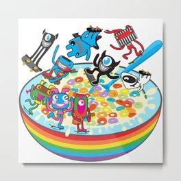 Skate Cereal Metal Print
