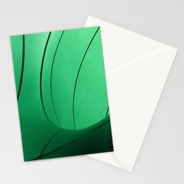 Green pattern Stationery Cards