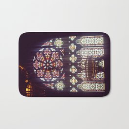Stained Glass Church Bath Mat