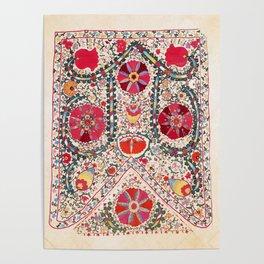 Lakai Suzani Uzbekistan Central Asian Embroidery Print Poster