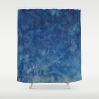 blues Shower Curtains featuring BLUES by Dash of noir