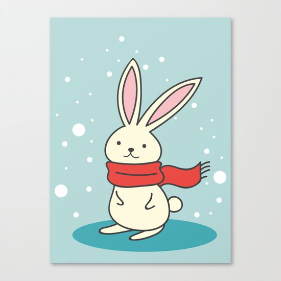 Winter Rabbit Canvas Print