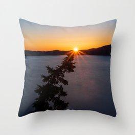 Sunset Tree Top Throw Pillow
