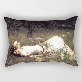 OPHELIA - JOHN WILLIAM WATERHOUSE Rectangular Pillow