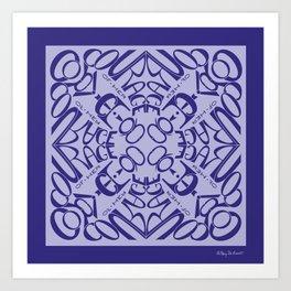 Courage of her Conviction Mandala - Violet Lavender Art Print
