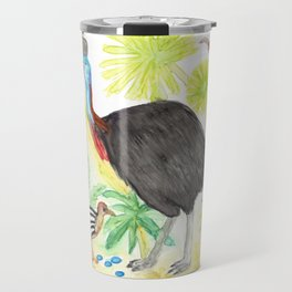 Cassowary Illustration Travel Mug