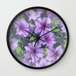 Petunia Patch Wall Clock