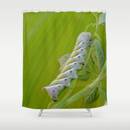 Tomato Horn Worm Shower Curtain