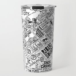 Cleveland Ohio Map Travel Mug