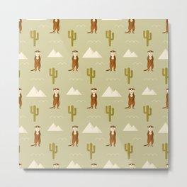 Desert full of meerkats Metal Print